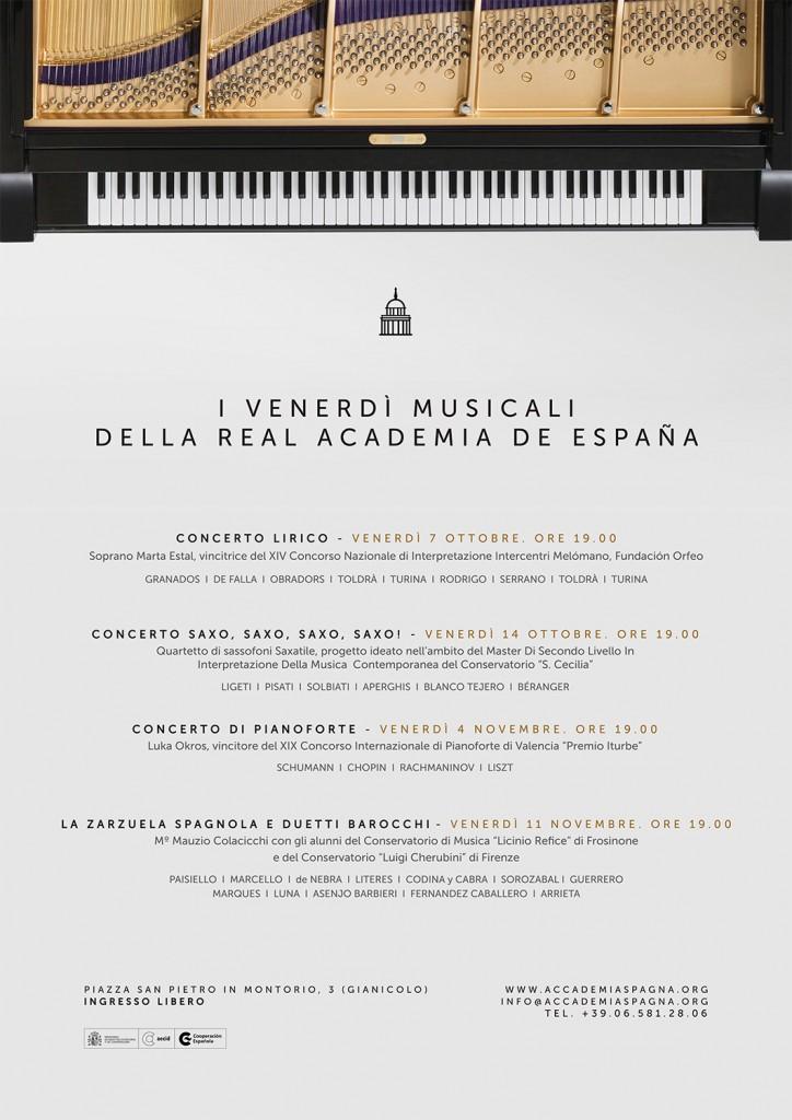 CARTEL Venerdi Musicali Autunno