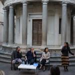 I Martedì Critici. Alberto Dambruoso, Antoni Muntadas, Anna Cestelli e Angeles Albert, direttrice della Real Academia de España en Roma