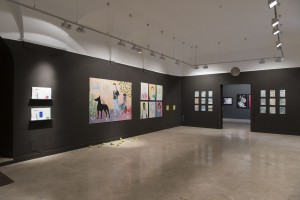 Sala de Esposiciones con la obra de Los Bravú, Tyto Alba y David Jiménez