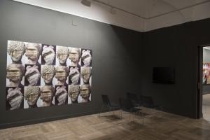 Sala de exposiciones con el proyecto de Estíbaliz Sádaba